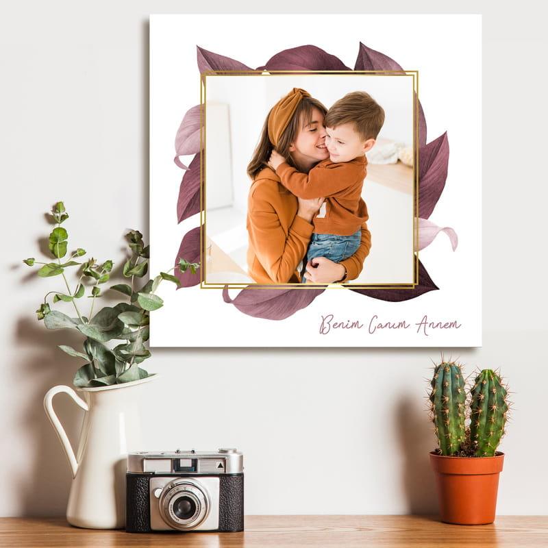 Anneler Gününe Özel Fotoğraf Baskılı Kanvas Tablo 40x40