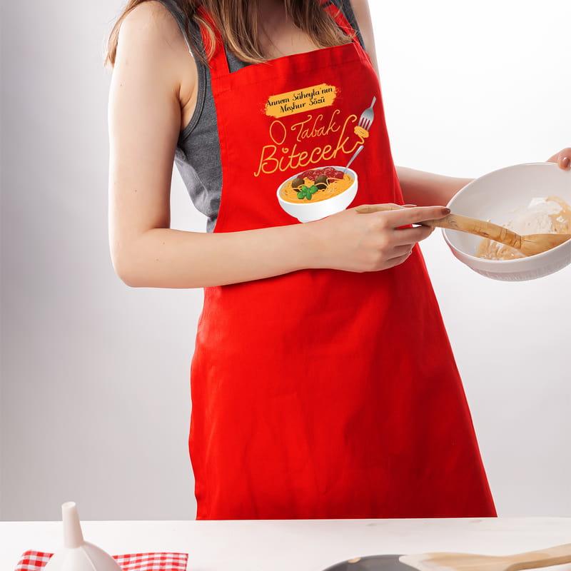 Annelere Özel Esprili Mutfak Önlüğü