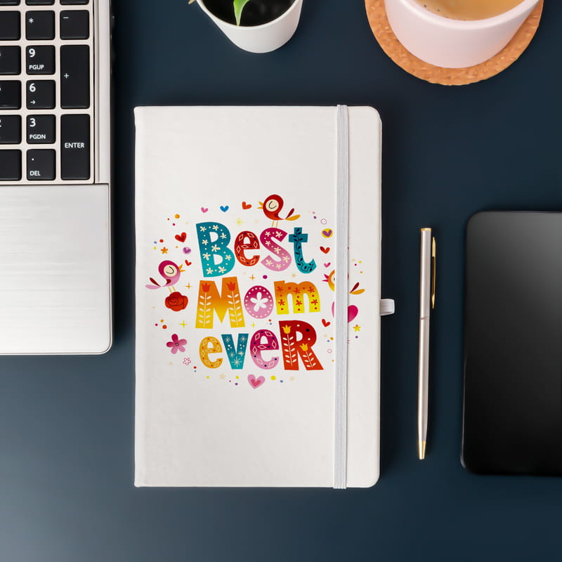 Anneye Hediye Best Mom Ever Mottolu Not Defteri