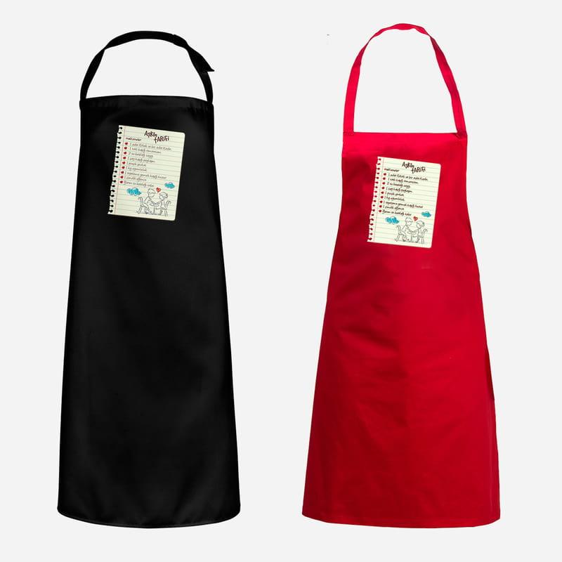 Aşkın Tarifi Tasarımlı Esprili Mutfak Önlüğü