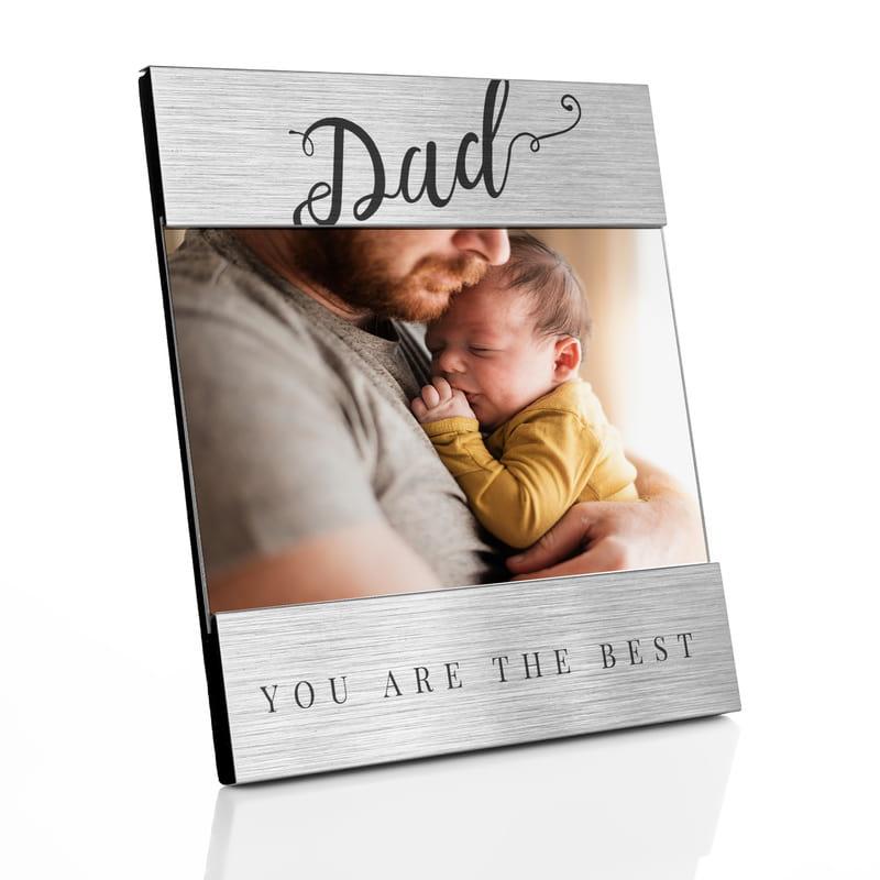 Babalar Günü Hediyesi Fotoğraflı Metalik Çerçeve
