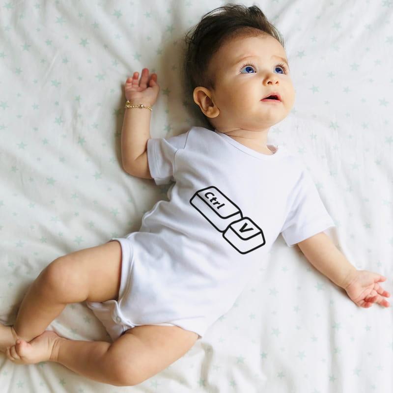 Babasının Kopyası Tasarımlı Esprili Tişört Bebek Body Kombini