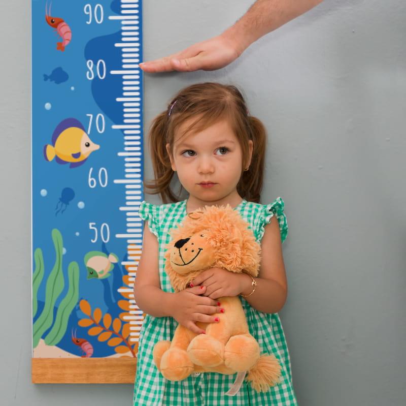 Çocuğa Hediye Deniz Temalı İsme Özel Boy Ölçme Cetveli