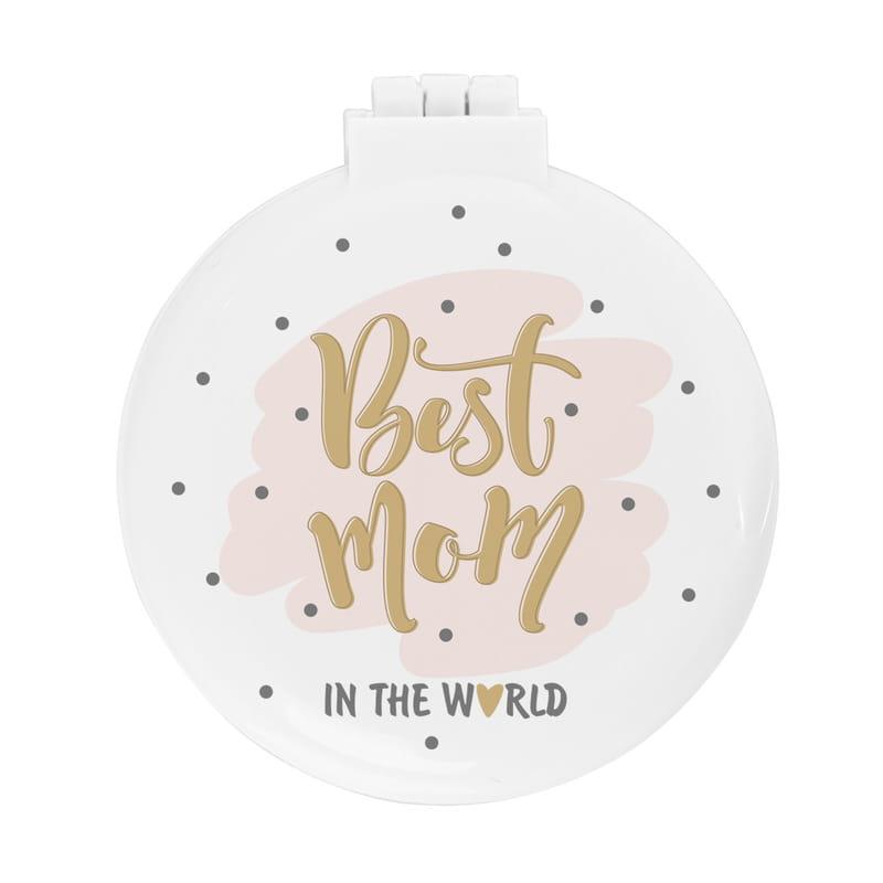Dünyanın En İyi Annesine Hediye Taraklı Makyaj Aynası