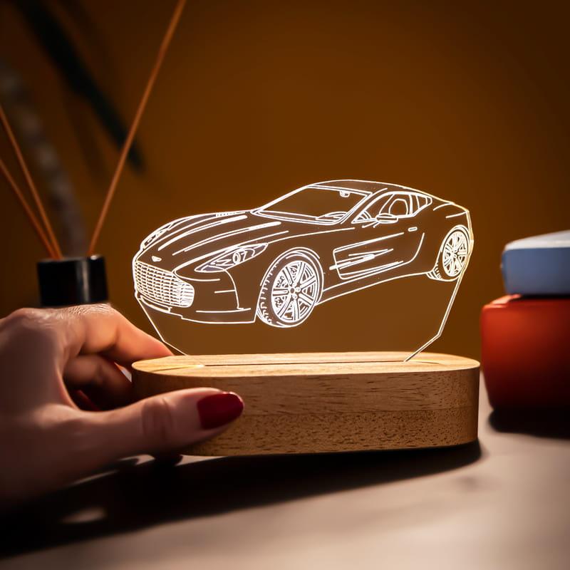 Hız Tutkunlarına Hediye Spor Otomobil 3D Led Lamba