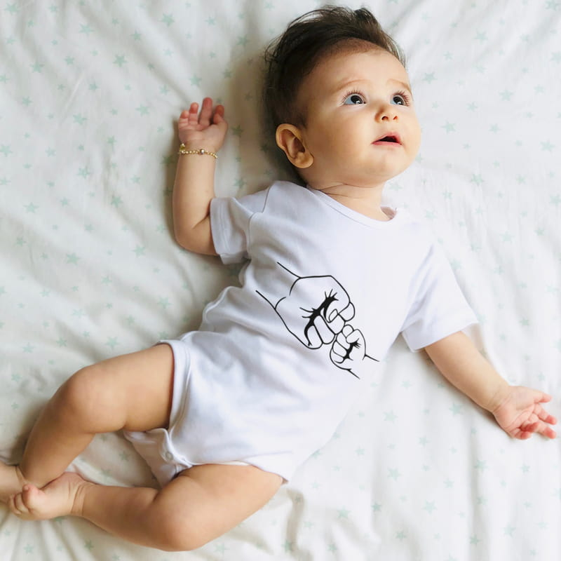 İlk Babalar Günü Hediyesi Tişört Bebek Body Kombini