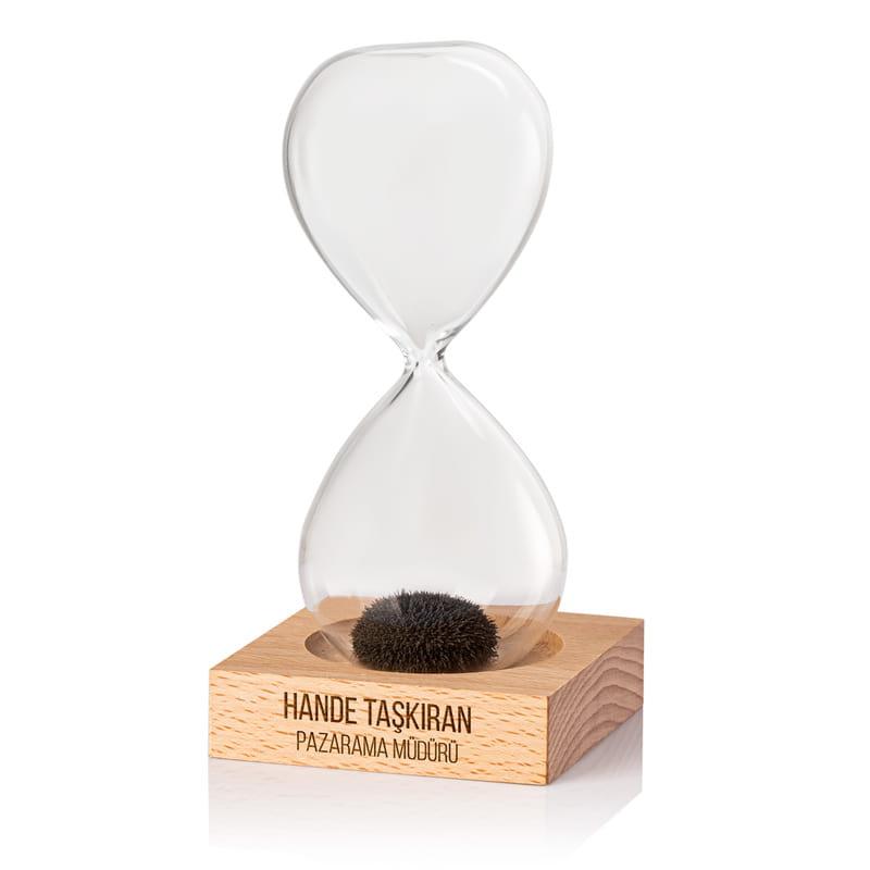 İsim ve Unvan Yazılı Kurumsal Hediyelik Manyetik Kum Saati