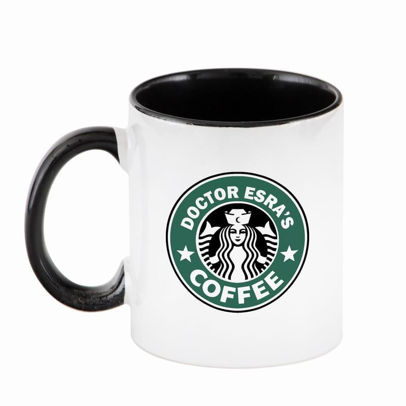 Kahve Sever Doktorlara Kişiye Özel Logo Baskılı Kahve Kupası