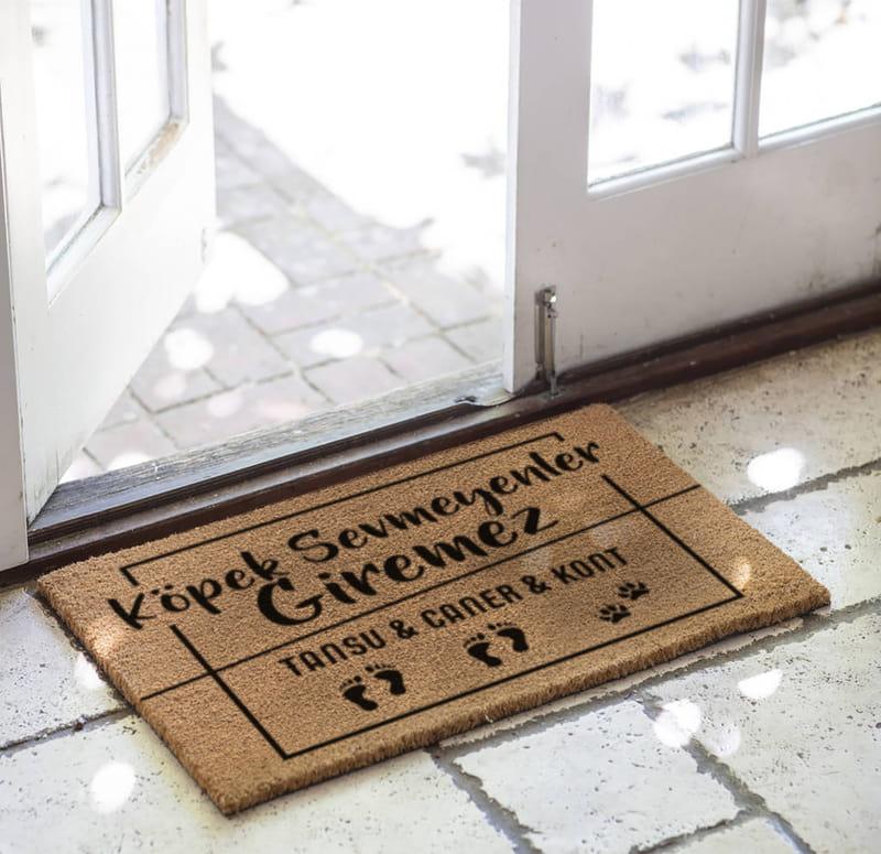 Köpek Severlere Hediye Esprili Kapı Önü ve Ev İçi Paspas