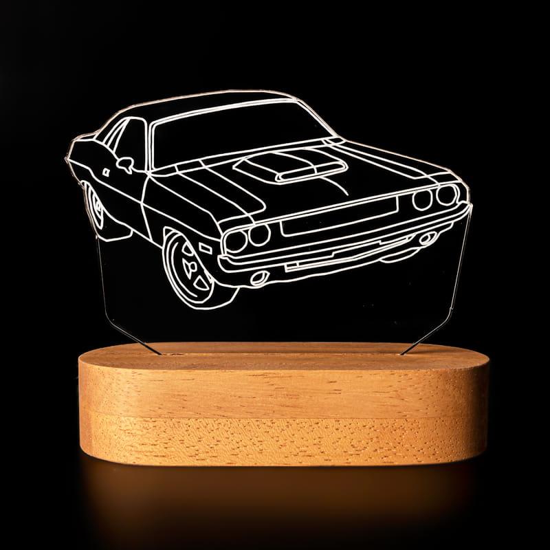 Nostaljik Spor Otomobil Tasarımlı Üç Boyutlu Led Lamba