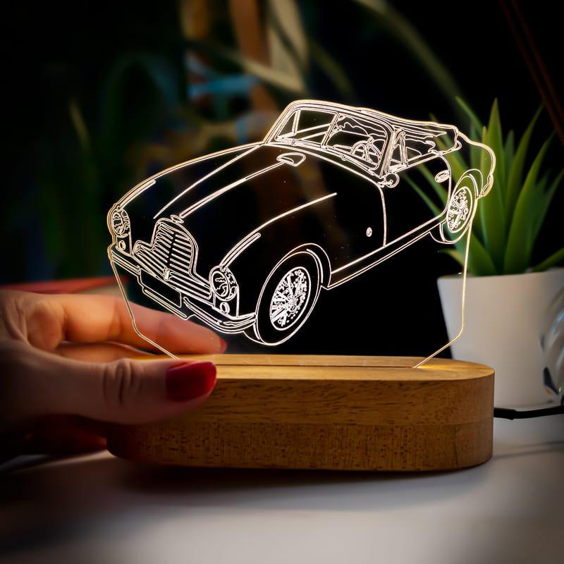 Nostaljik Vintage Otomobil Tasarımlı Üç Boyutlu Led Lamba
