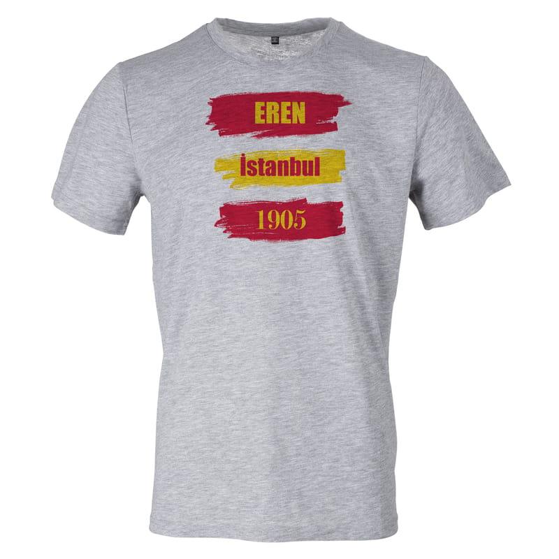 Sarı Kırmızı Renkli Kişiye Özel Tişört