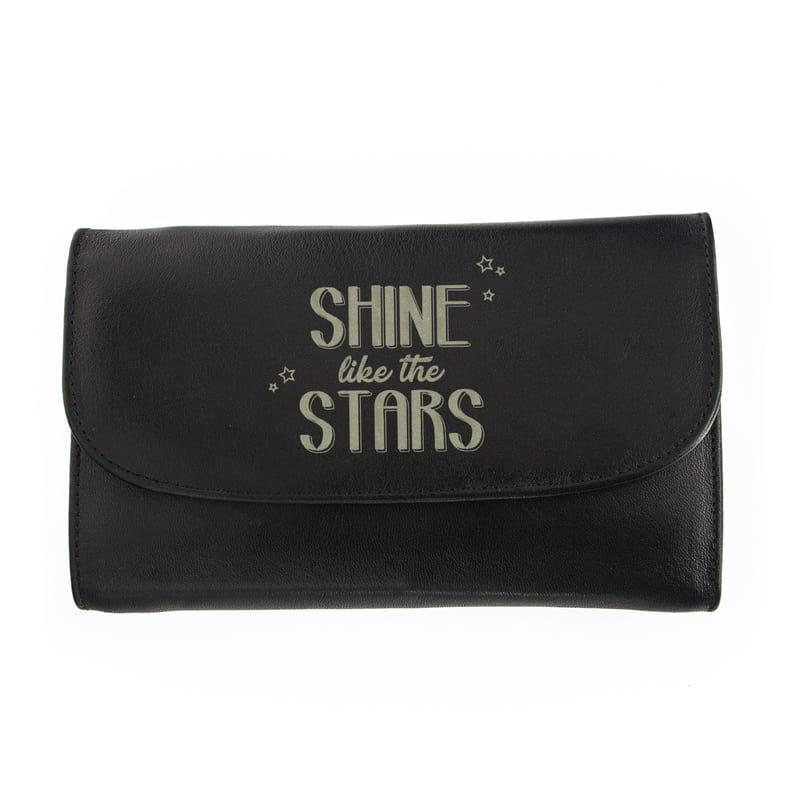 Shine Like The Stars Lazer İşlemeli Bayan Cüzdanı