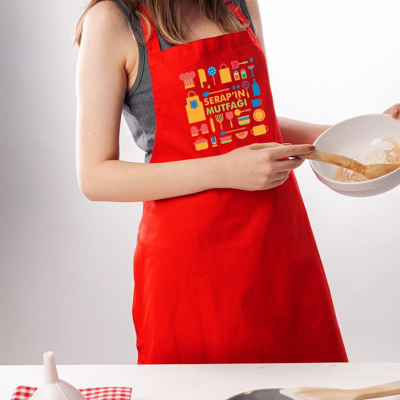 Usta Şeflere İsim Yazılı Mutfak Önlüğü
