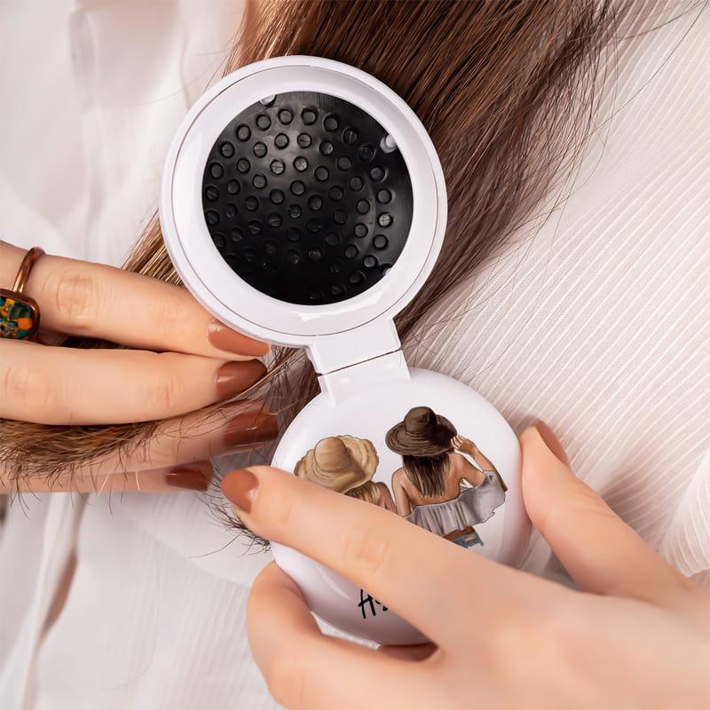 Yakın Dostlara Kişiye Özel Taraklı Makyaj Aynası