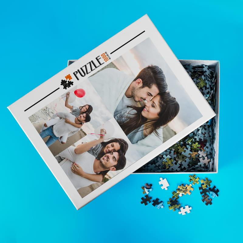 1000 Parça 3 lü Fotoğraf Kolajlı Puzzle Kutulu