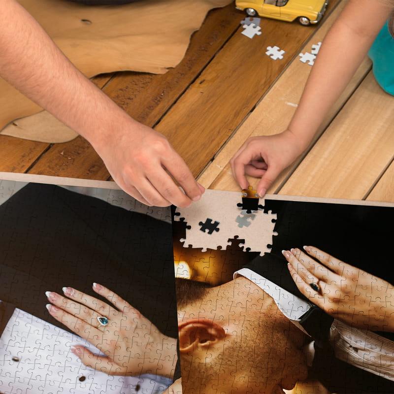 2000 Parça 2 li Fotoğraf Baskılı Kolaj Puzzle