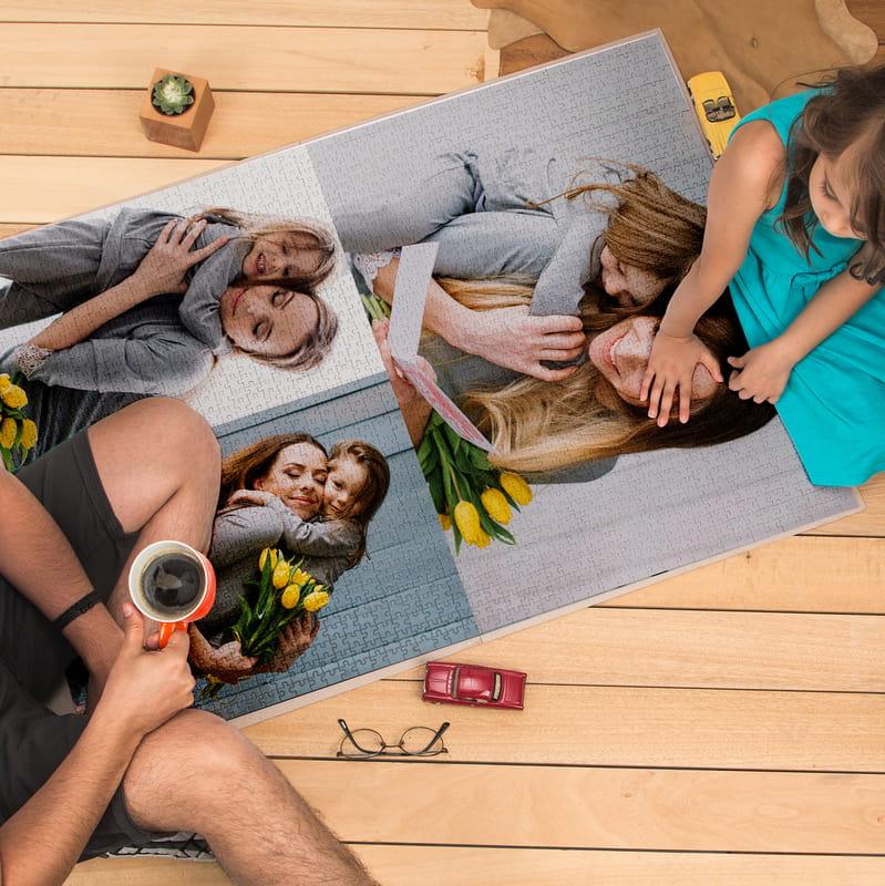 2000 Parça 3 lü Fotoğraf Baskılı Kolaj Puzzle