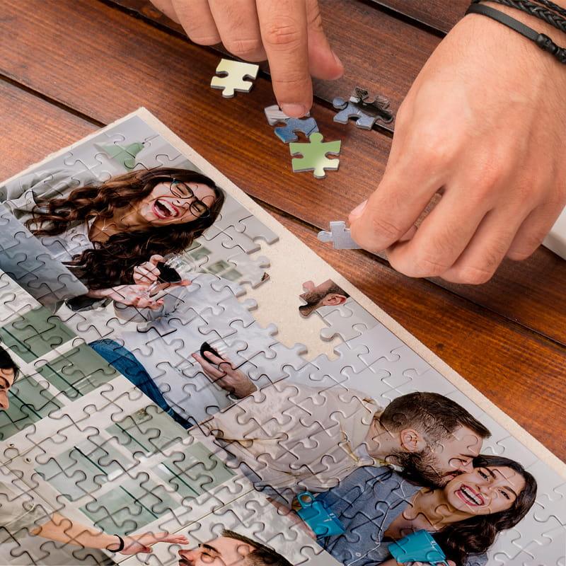 500 Parça Kişiye Özel 5 Fotoğraf Kolajlı Puzzle