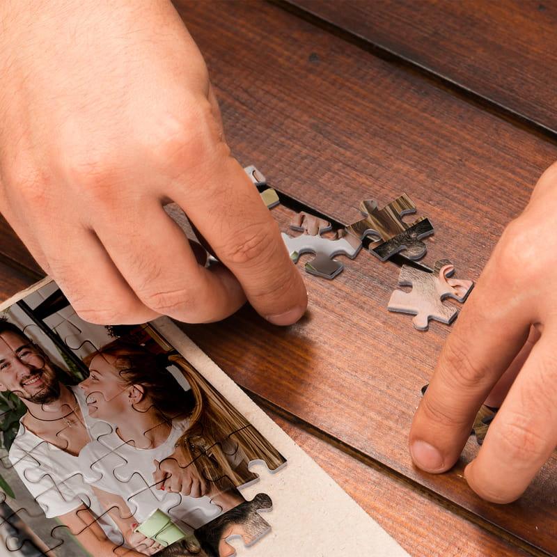 500 Parça Kişiye Özel Kutulu 6 lı Fotoğraf Kolajlı Puzzle