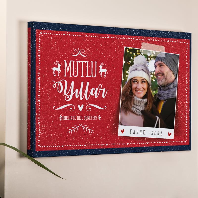 Ailenize Yeni Yıl Hediyesi Fotoğraf Baskılı 40x60 Kanvas Tablo