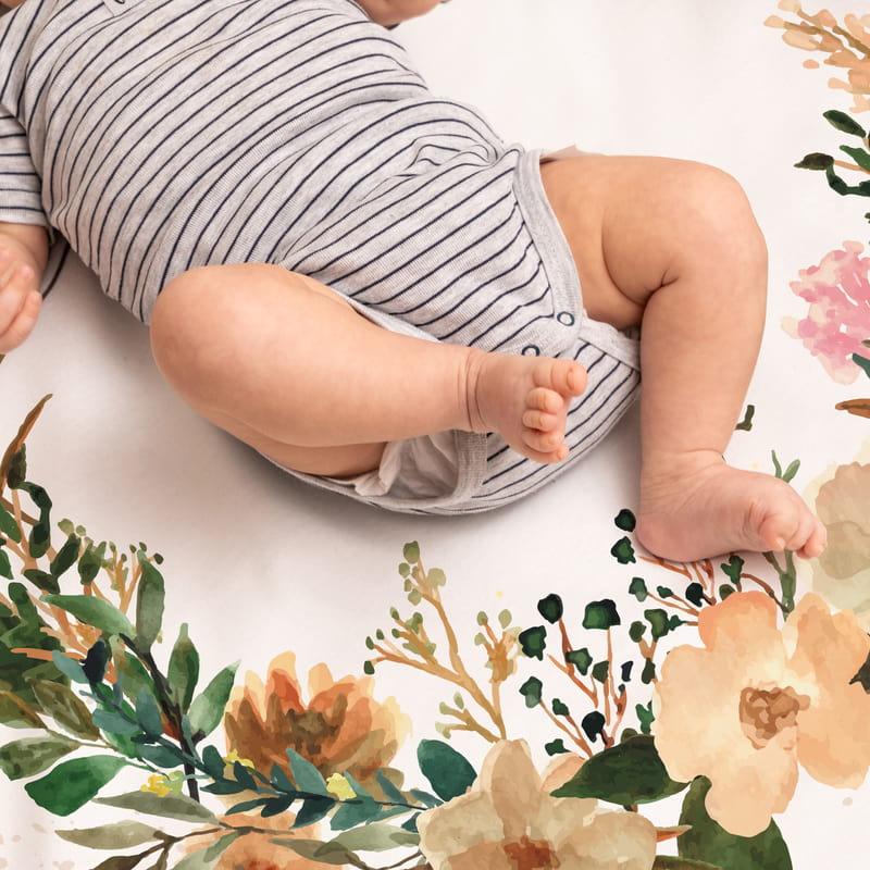Bahar Dalları Aylık   Haftalık Doğum Hediyesi Fotoğraf Çekim Battaniyesi