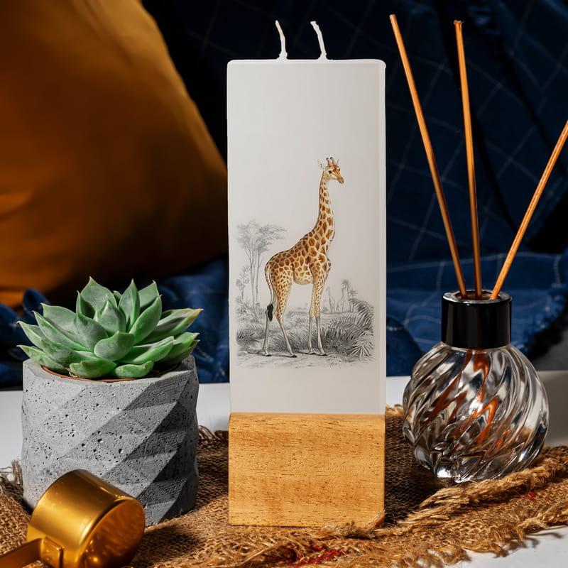 Dekoratif Zürafa Tasarımlı Mum
