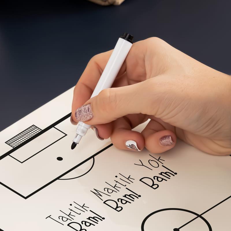 Futbolseverlere Özel Silinebilir Kalemli Ahşap Planlayıcı