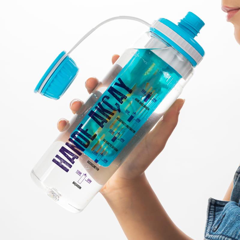 İsme Özel Su İçme Hatırlatıcı Tasarımlı Süzgeçli Su Şişesi