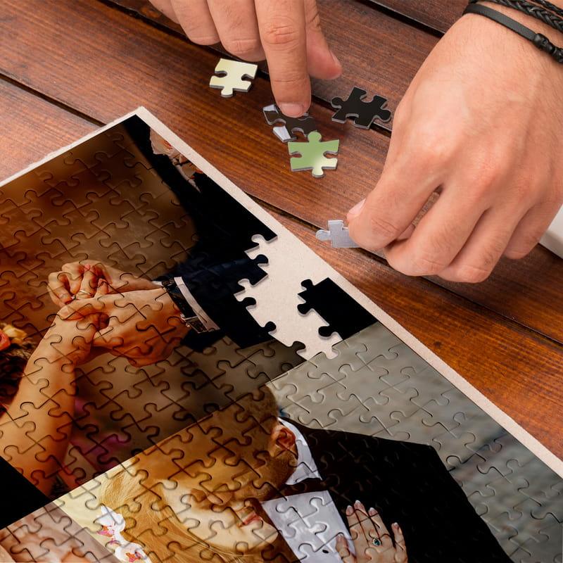 Kişiye Özel Kutulu 4 lü Kolaj 500 Parça Puzzle