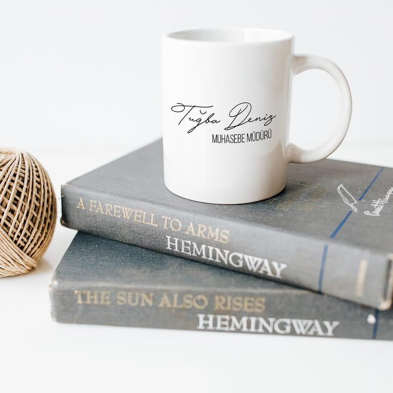 Kişiye Özel Yeni İş Hediyesi Porselen Kupa