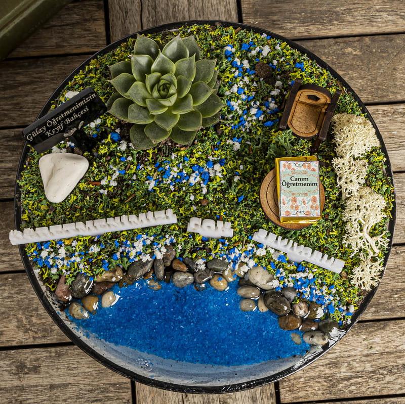 Öğretmenlere Kurumsal Hediye Canlı Minyatür Bahçe