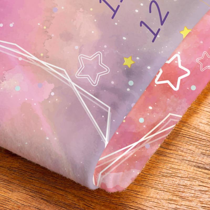 Pembe Uzay Macerası Baby Shower Hediyesi Fotoğraf Çekim Battaniyesi