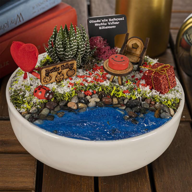 Yılbaşı Hediyesi Canlı Minyatür Bahçe