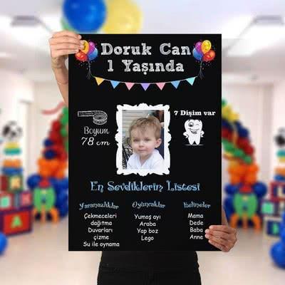 1. Yaş Doğum Günü Hediyesi Poster