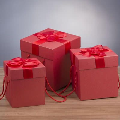 3lü Kırmızı Hediye Kutu Seti