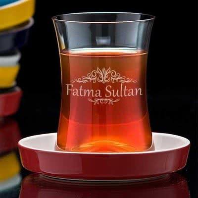 Sevdiklerinize Özel Okey İçin Çay Bardağı Seti