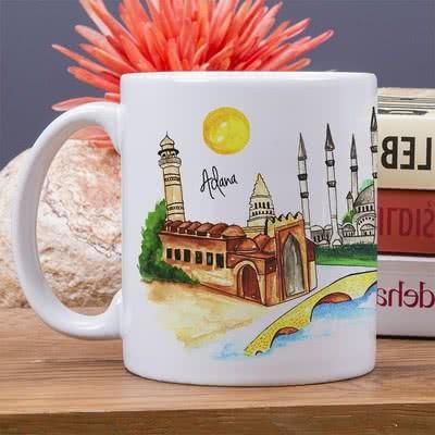 Adana Şehri Tasarımlı Kupa Bardak