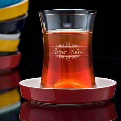 Aile İsimli Tiryaki Çay Seti