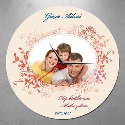 Yeni Yılda Aile Fotoğrafınıza Özel Duvar Saati