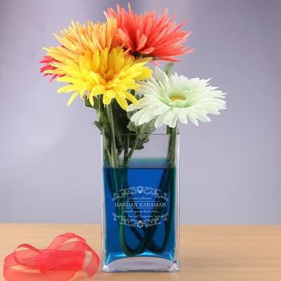Anneler Gününe Özel İsimli Vazo