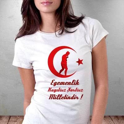Atatürk Baskılı Egemenlik Tişörtü