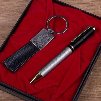 Atatürk İmzalı Kalem - Anahtarlık Set