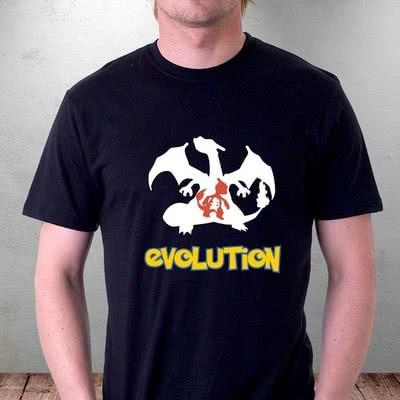 Ateşin Evrimi Tasarımlı Poke Avcısı Tişörtü