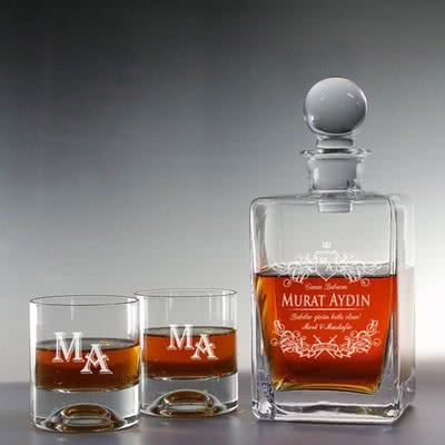 Babanıza Özel Viski Şişesi & Bardak Seti