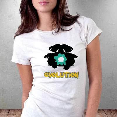 Bitki Evrimi Tasarımlı Kahraman Poke Avcısı Tişörtü