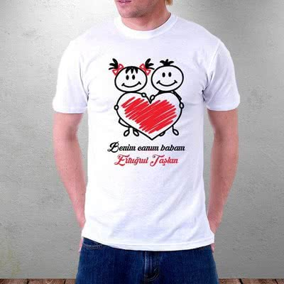 Babaya Özel Hediye Baskılı T-shirt