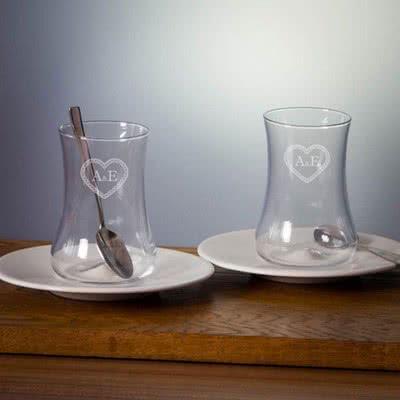 Çiftlere Hediyelik Koleksiyon Dervish Çay Bardak Seti 2li
