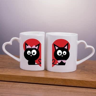 Çiftlere Özel Aramıza Kara Kedil Giremez Kupaları