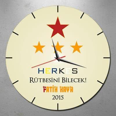 Galatasaraylı Erkeğe Hediye Duvar Saati